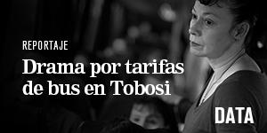 Drama por tarifas de bus en Tobosi - Especial de Data La Nación