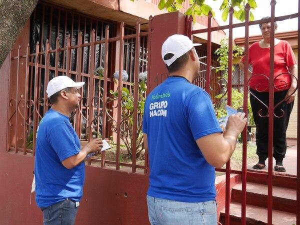 Voluntariado de Grupo Nación en el sector 1.
