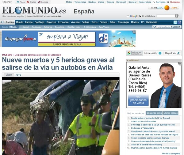 Medios españoles como El Mundo confirman la cifra de falleciso.