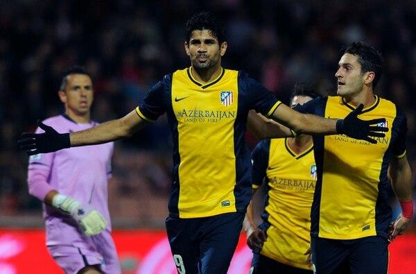 Diego Costa se encargó de cobrar el penal a favor del Atlético del Madrid.