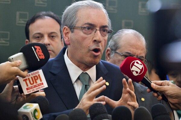 Eduardo Cunha anunció ayer en el Congreso su decisión. | AFP