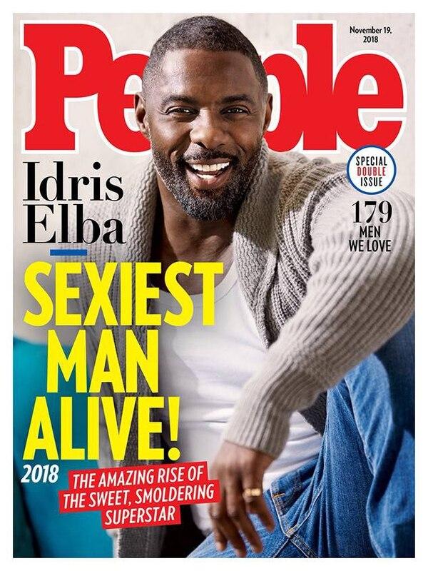 Con esta portada, la revista 'People' anunció su designación de Idris Elba como el hombre vivo más sexy del 2018. Cortesía de Revista People