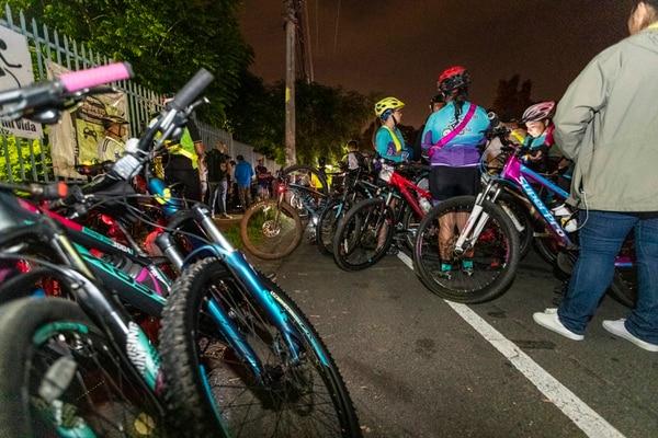 22/07/2019, San José, Curridabat, vigilia de ciclistas para pedir justicia por la liberación del hombre condenado por atropello de Lucia Mata. Foto José Cordero.