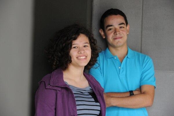 Carolina Pérez estudia en el Colegio Científico de Alajuela y Mariano Ramírez en la Británica. Ambos tienen 16 años. | JORGE NAVARRO