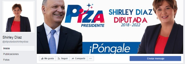 Díaz es candidata a diputada en el tercer puesto de la papeleta de San José.
