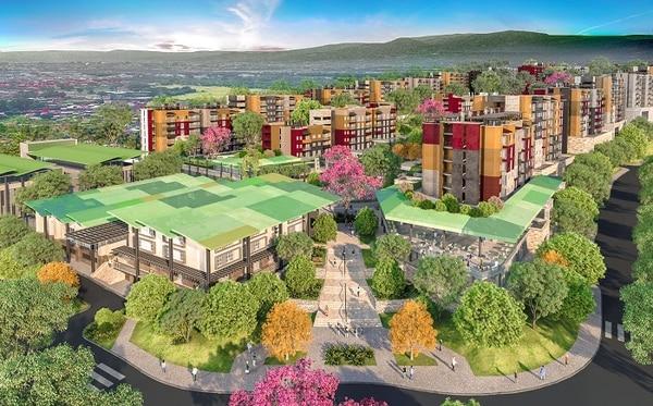 El proyecto Santa Verde se ubica en La Aurora de Heredia, 500 m al este y 1 km al norte de Cenada.