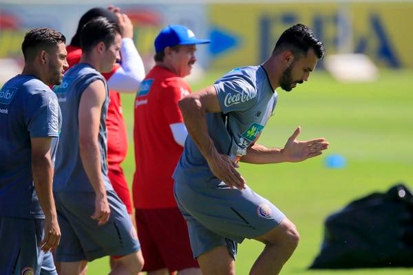 Giancarlo González en un entrenamiento de la Selección Nacional previo a Rusia 2018. Fotografía: Rafael Pacheco.
