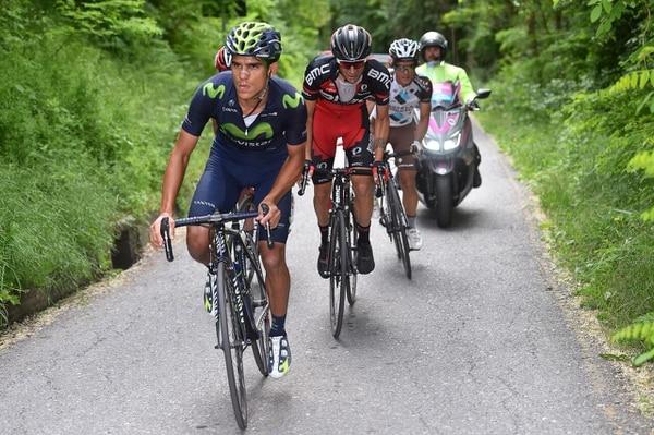 Andrey Amador en la etapa 16 del Giro de Italia.