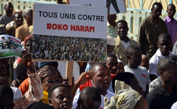 Protesta el martes en Niamey, Níger, contra los ataques del grupo radical islamista Boko Haram. | AFP