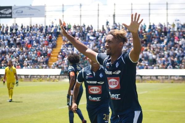 Marcel Hernández logró dos dobletes en el Torneo de Apertura 2018, el primero ante Guadalupe en la jornada 15 y el segundo frente a Santos en la fecha 21.Fotografía: Prensa CSC.