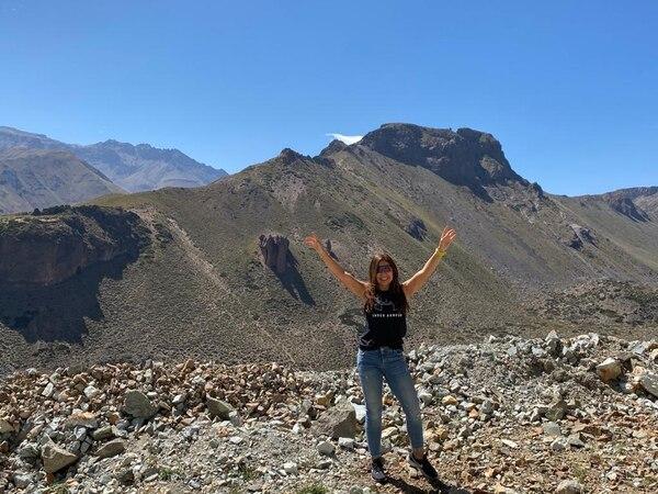 Silvia Fumero en los días que estaba de paseo en Argentina. Hoy sigue ahí, pero en confinamiento. Foto: cortesía Silvia Fumero.
