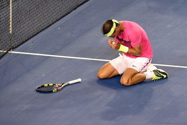 Rafael Nadal estuvo a punto de vomitar durante el juego. | AFP