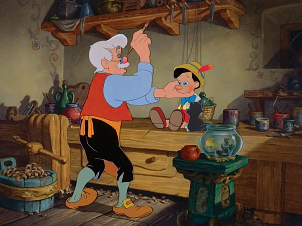 Gepetto siempre soñó con tener un hijo. Foto: Walt Disney Productions.
