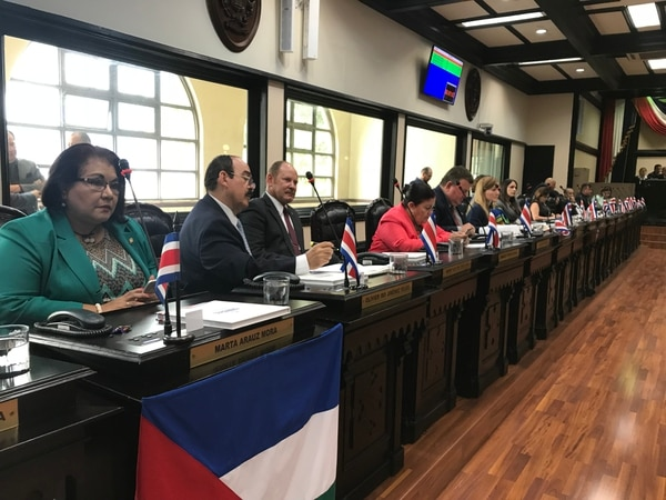 Varios diputados del PLN, principalmente Juan Marín, defendieron la actividad de la presidencia legislativa donde participó su candidato presidencial, Antonio Álvarez.