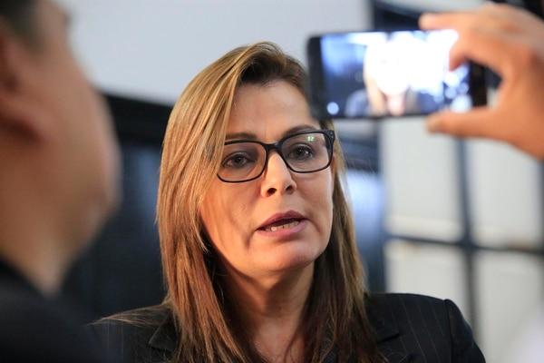 La diputada María Vita Monge presentó el proyecto el 1° de mayo. Foto: Rafael Pacheco.