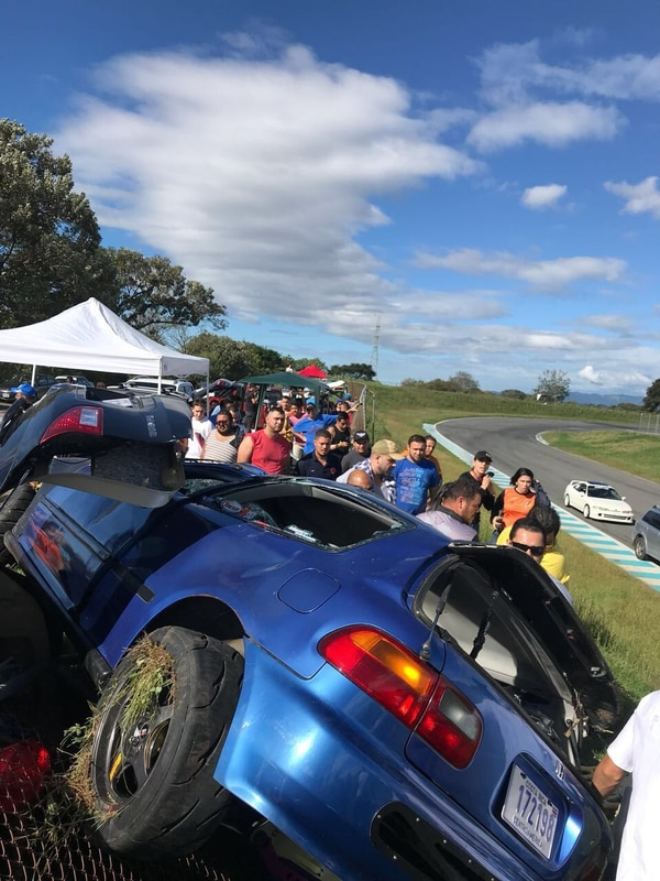 Accidente en el Circuito de Parque Viva. Foto: Cortesía