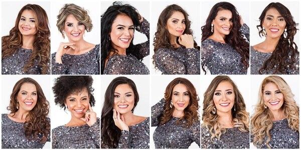 María Fernanda, Stephanie, Valeria, Patricia, Marcela, Wendy, Lisbeth, Emma, Keissy, María del Mar, Mariana y Cricsin son las candidatas a la quinta edición del Mrs Universe.