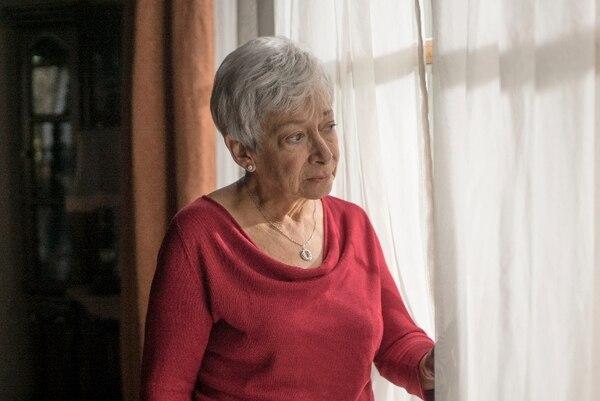 Así luce Eugenia Chaverri en el set de grabación. La película, en su mayoría, se está filmando en una casa del barrio González Lahman. Producciones La Tiorba/La Nación