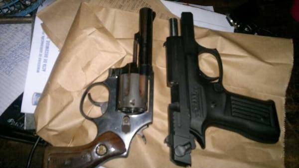 Las armas decomisadas fueron enviadas a la Fiscalía.   MSP PARA LN.