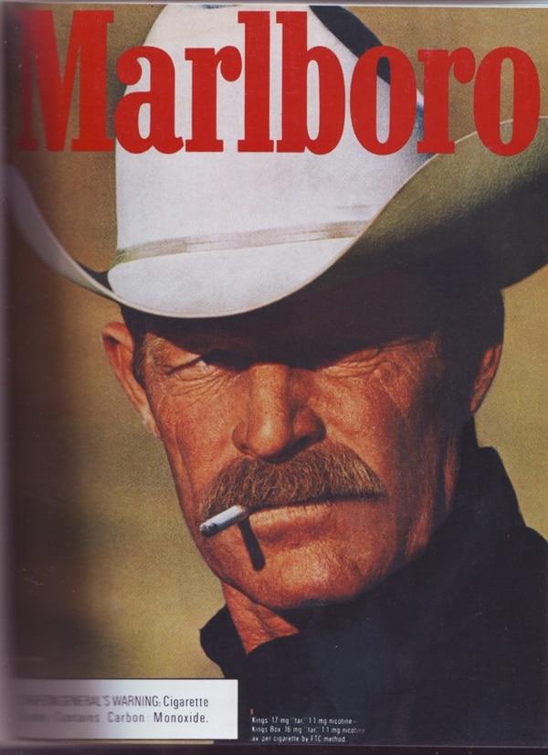 Este es uno de los anuncios de Marlboro más populares de la época.