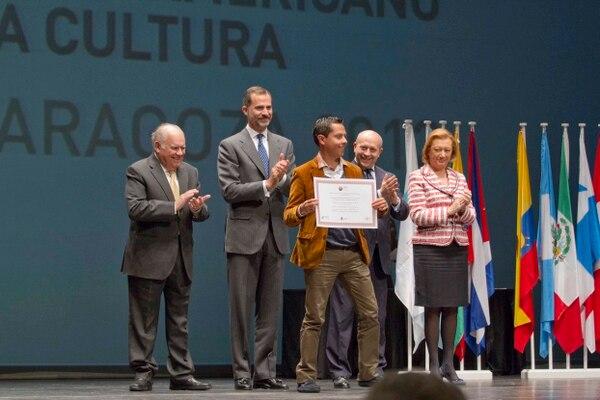 El príncipe Felipe de Asturias entregó los reconocimientos a los emprendimientos digitales de cultura más innovadores de Iberoamérica. Congreso Iberoamericano de Cultura y Víctor Luengo para La Nación.