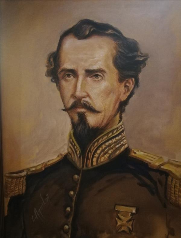 Máximo Blanco (1824-1886) fue uno de los héroe militares de la gesta heroica de 1856 y 1857. Este retrato pertenece a la colección del Museo Histórico Cultural Juan Santamaría. Foto: Cortesía del Museo Juan Santamaría