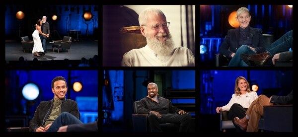 En la segunda temporada del 'show', Letterman apostó por Lewis Hamilton, Ellen DeGeneres, Kanye West, Melinda Gates y Tifanny Haddish. Fotografía: Netflix para La Nación