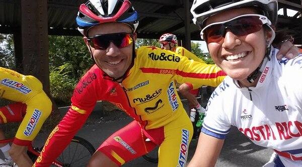 Alisson Chévez compartió este jueves en Richmond con el español Joaquim 'Purito' Rodríguez.