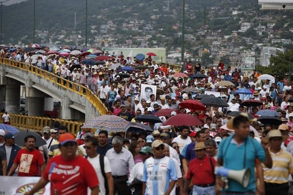 Protesta en Acapulco, México