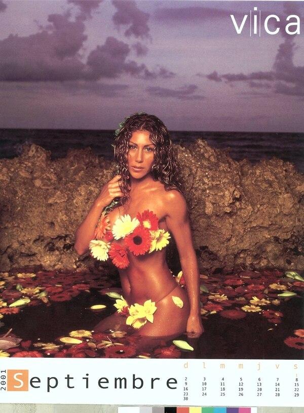 Impacto mediático. Los calendarios de Vica Andrade fueron una sensación durante varios años en Costa Rica. Archivo LN