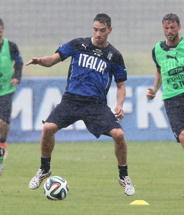 Mattia De Sciglio durante el entrenamiento dle pasado martes.