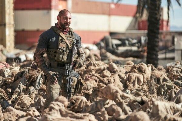 El ejército de los muertos está dirigida por Zack Snyder y nos muestra a Scott Ward, interpretado por Dave Bautista, en un mundo posapocalíptico. Foto: Netflix para LN.