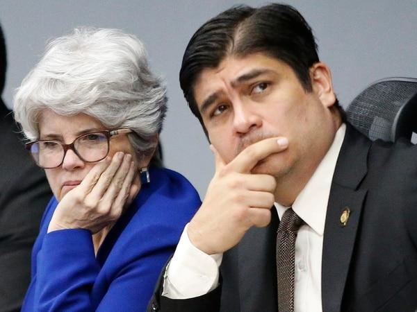 Carlos Alvarado considera que la decisión de su ministra de Hacianda, Rocío Aguilar, de recortar el prosupuesto del Poder Judicial del 2020, es lo más coherente según lo establecido por la reforma fiscal. Foto: Albert Marín.
