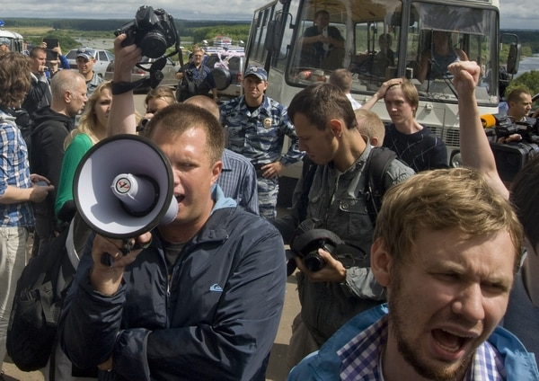 Varios opositores acudieron a Kirov para apoyar a Navalny.