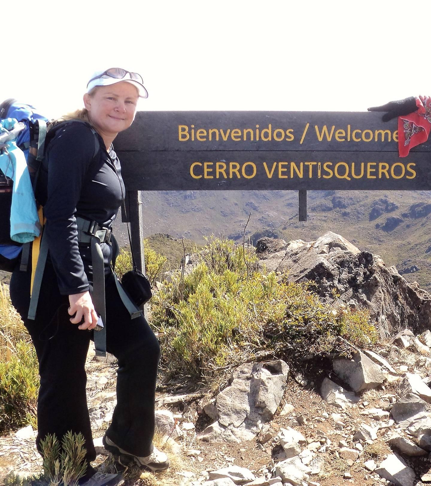 El 25 de febrero del 2013 Soto visitó la cumbre de Ventisqueros, para ella presenta más desafíos que el mismo Chirripó. Foto: Hugo Solano.