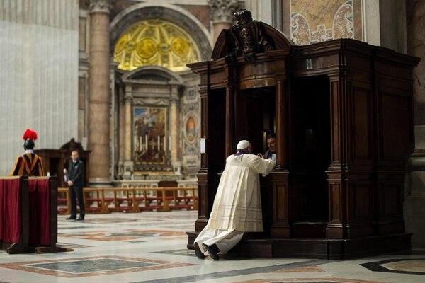 Una imagen cedida por el diario del Vaticano