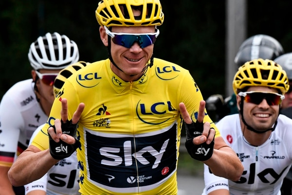 Chris Froome en el Tour de 2017. Fotografía: AFP