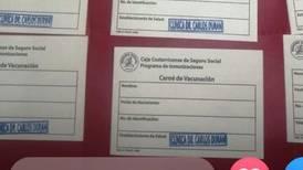 CCSS investiga carnés falsos de vacunación contra la covid-19
