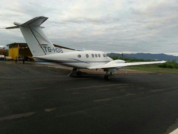 Avioneta capturada esta mañana.