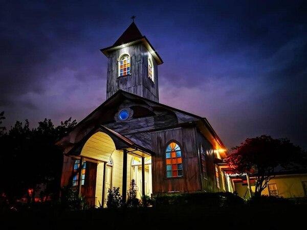 La ermita ahora cuenta con iluminación externa para mostrar su belleza. Fotografía cortesía Patrimonio.