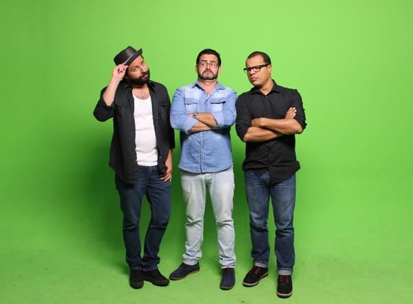 Adrián Granados, Álvaro Vargas y Jair Cruz lo harán reir en el nuevo programa 'La Jareta'. | ADRIÁN GRANADOS PARA LA NACIÓN.