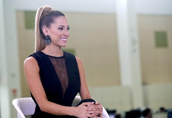Natalia Carvajal, Miss Costa Rica 2018, en Dialogos de La Nacion / Foto: John Durán