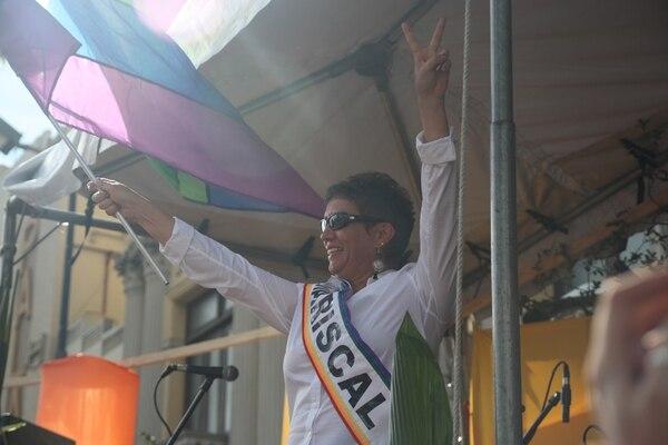 Diversidad. En el 2013, Carmen Muñoz, entonces diputada del Partido Acción Ciudadana (PAC), fue la dedicada de la Marcha de la Diversidad.