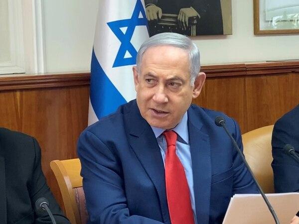 El primer ministro israelí, Benjamín Netanyahu, durante una reunión de gabinete en Jerusalén, el domingo 26 de enero del 2020.