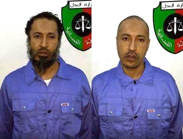 Saadi al Gadafi, antes y después de afeitarse, en una prision de Trípoli, Libia.
