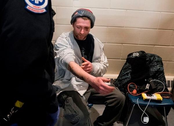 Cody, de 31 años, ingresó al programa Estación Segura en marzo de 2018. / AFP PHOTO / Don EMMERT