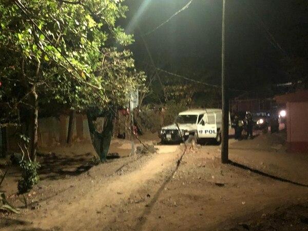 El crimen ocurrió en el barrio Estocolmo de Santa Cruz, Guanacaste. Foto: Cortesía de Guana Noticias