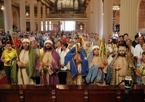 Al finalizar la procesión se realizó la misa en la catedral metropolitana. Foto: Jeffrey Zamora.