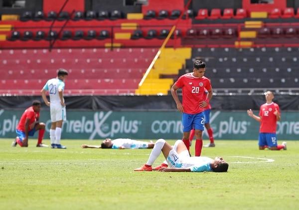 La Selección Preolímpica de Costa Rica logró este domingo el boleto al Preolímpico de Concacaf pese a caer ante Guatemala en el Morera Soto. Fotografia : John Durán