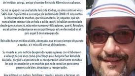 'Su nombre era Reinaldo'. CCSS rinde homenaje al médico, colega y amigo que murió como consecuencia de covid-19